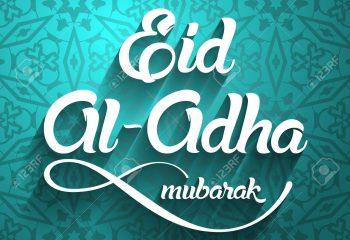 Eid al-Adha, Eid ul-Adha mubarak. Kurban Bayrami, Kurban Bajram muslim festival of sacrifice. Greeting vector illustration.